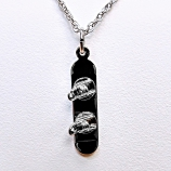 Sterling Silver Snowboarding Necklace
