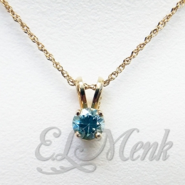 Beautiful Blue Zircon Pendant