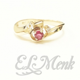 Beautiful Ruby and Diamond Ring