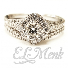 Stunning Halo Wedding Set