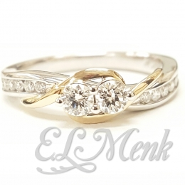 Beautiful Two Tone, Two Stone Ring