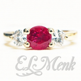 Gorgeous Ruby and Diamond Ring