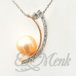 Gorgeous Pearl and Diamond Pendant