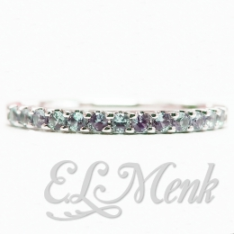 Created Alexandrite Stackable Ring