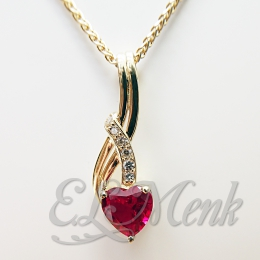 Chatham Ruby & Diamond Pendant