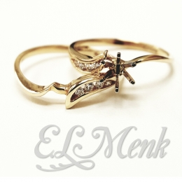 Gorgeous Diamond Semi-Mount Wedding Set