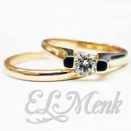 Elegant Floating Diamond Wedding Set