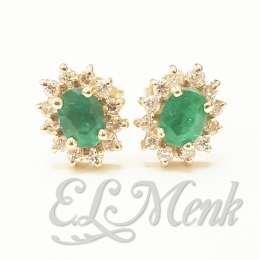 Gorgeous Emerald and Diamond Earrings