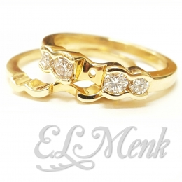 Gorgeous Semi-Mount Wedding Set With Diamonds