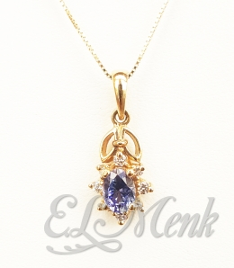 Beautiful Tanzanite and Diamond Pendant