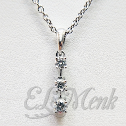 Interesting 3 Stone Diamond Pendant