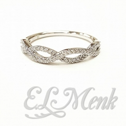 Beautiful Infinity Ring with Diamonds