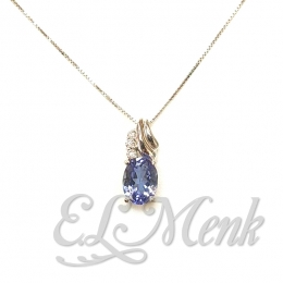 Stunning Tanzanite and Diamond Pendant